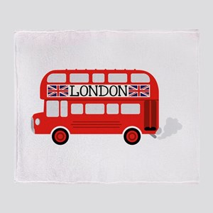 London Double Decker Throw Blanket